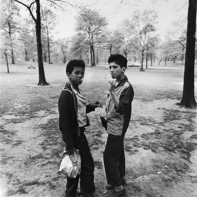 , 'Two Boys Smoking in Central Park, NYC,' 1963, Holden Luntz Gallery