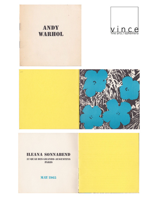"Andy Warhol, '""FLOWERS"", 1965, Exhibition Catalog Booklet, Ileana Sonnabend Gallery Paris', 1965, VINCE fine arts/ephemera"