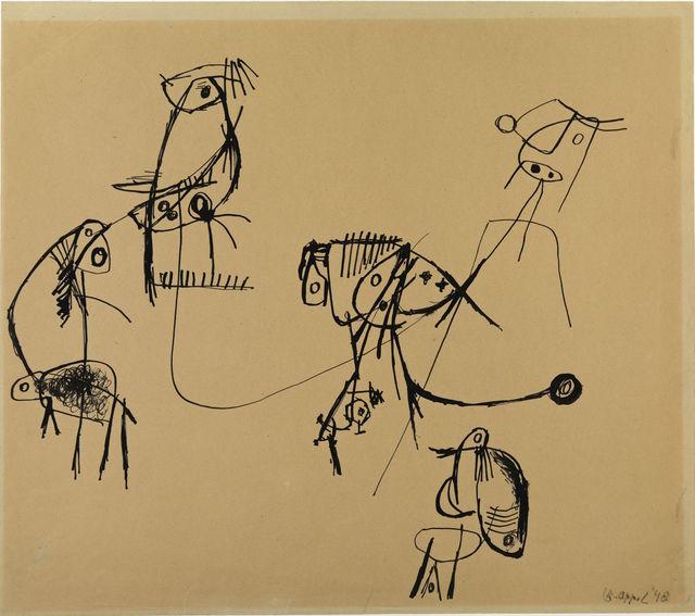 , 'Créatures venues de l'espace n° 2,' 1948, Centre Pompidou