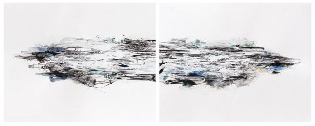 , 'momentary order, diptych,' 2014, Hosfelt Gallery