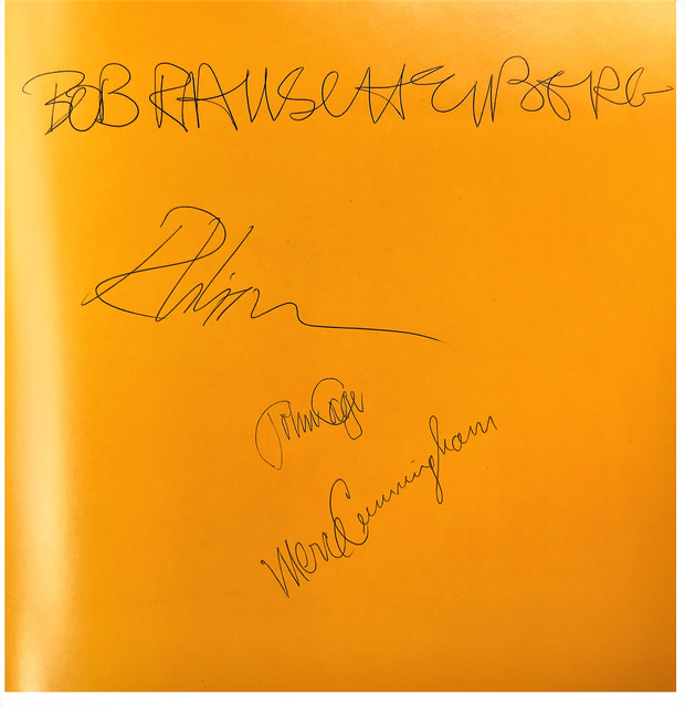 "Robert Rauschenberg, '""Poets of the Cities New York and San Francisco 1950-1965"", Signed by Robert Rauschenberg, John Cage, Merce Cunningham', 1974, VINCE fine arts/ephemera"
