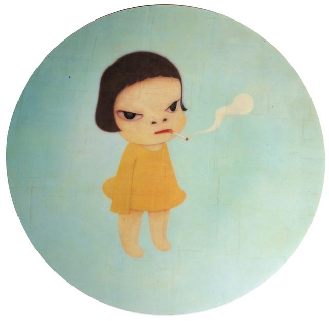 Yoshitomo Nara, 'Smoking Girl Mousepad', ca. 2005, Ephemera or Merchandise, Digital print on mousepad, EHC Fine Art