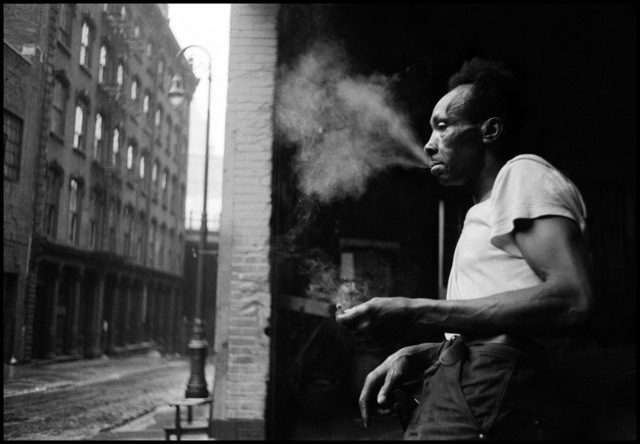 , 'Man smoking under the Brooklyn Bridge. New York, USA. ,' 1955, Magnum Photos