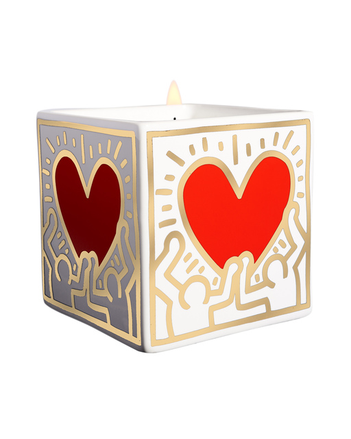 Keith Haring, 'Red Heart with Gold Square Perfumed Candle', 2018, A.Style