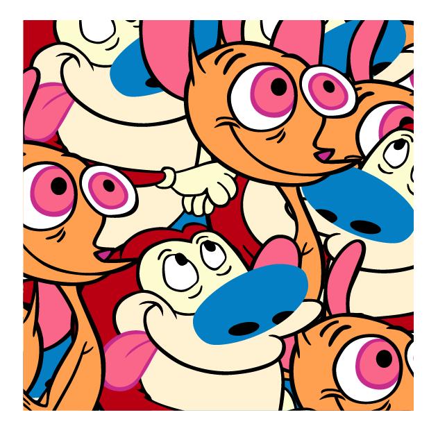 Jerkface, 'Happiness and Joy (Ren and Stimpy)', 2015, Taglialatella Galleries