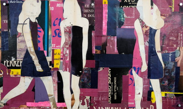 , 'Purple Girls Walking,' 2016, Lanoue Gallery