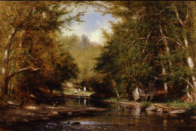 , 'The Brook—Catskills (The Bathers),' ca. 1885, Montclair Art Museum