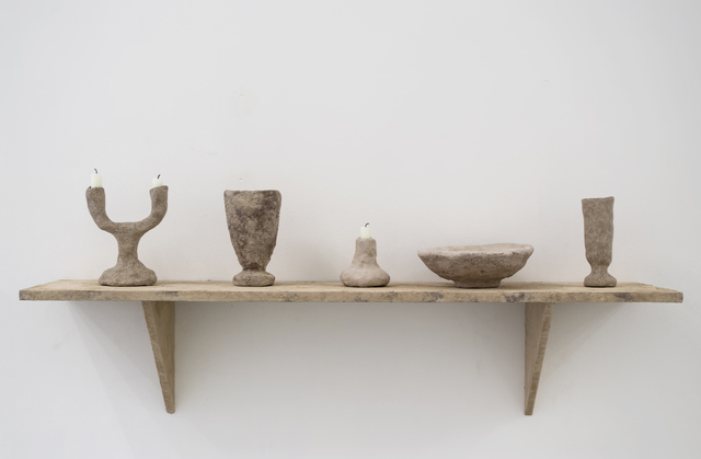 , 'Stoned Shelf with Objects,' 2015, Etage Projects