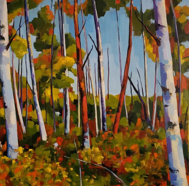 Jenn Hallgren, 'Birch Garden ', 2019, Painting, Oil on canvas, InLiquid