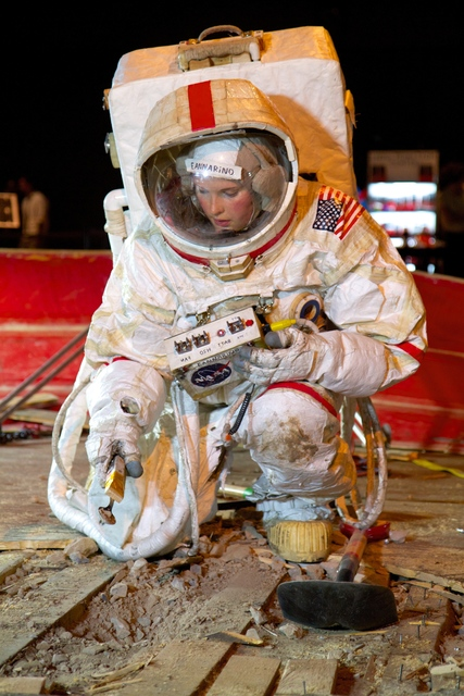 , 'Astronaut Eannarino and the Handtool Palette Carrier (HTC),' 2012, Tom Sachs Studio