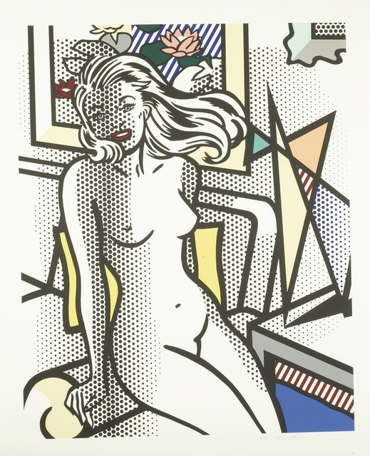 Roy Lichtenstein, 'Nude with Yellow Pillow (Corlett 283)', 1994, Puccio Fine Art