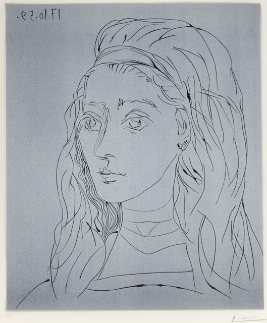 Pablo Picasso, 'Portrait de Jacqueline', 1959, Print, Linocut in colors on Arches paper, Christie's