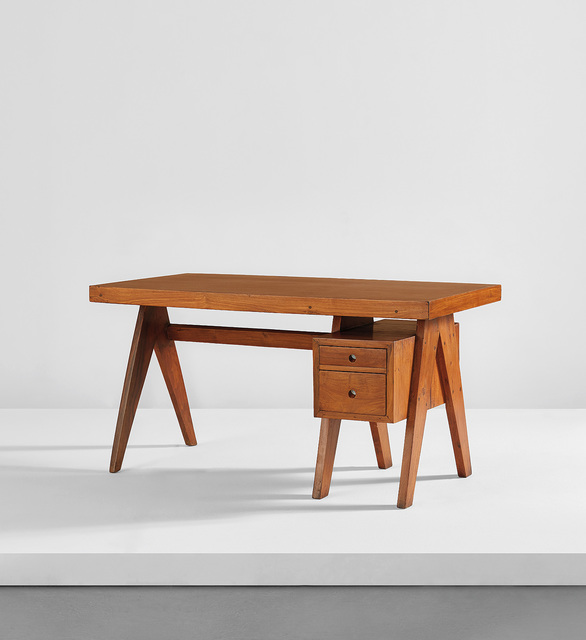 "Pierre Jeanneret, '""Executive"" desk, model no. PJ-BU-10-B, designed for the administrative buildings, Chandigarh', circa 1960, Phillips"