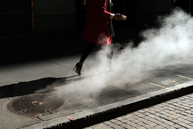 , 'Red Coat and Steam,' 2016, Getty Images Gallery