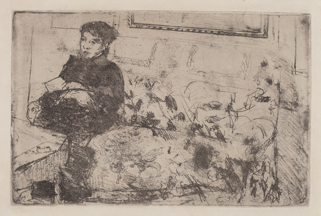 Mary Cassatt, 'Interior: On the Sofa', ca. 1883, National Gallery of Art, Washington, D.C.