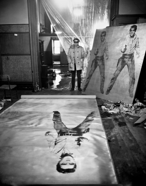 Evelyn Hofer, 'Andy Warhol (in his studio with Elvis Presley), New York', 1962, Danziger Gallery