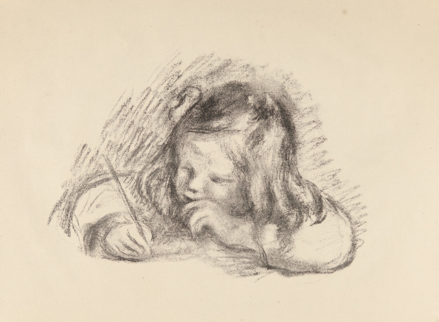 , 'LE PETIT GARÇON AU PORTE-PLUME - PORTRAIT DE CLAUDE RENOIR ÉCRIVANT (Little Boy with a Pen - Portrait of Claude Renoir Writing),' 1902-1903, Galerie d'Orsay
