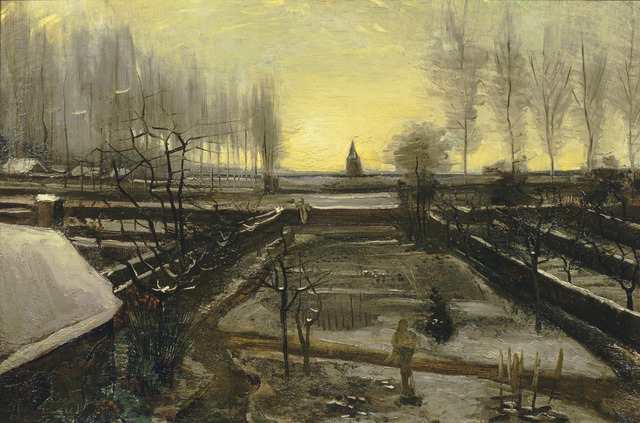 , 'The Parsonage Garden at Nuenen in the Snow,' 1885, National Gallery of Victoria