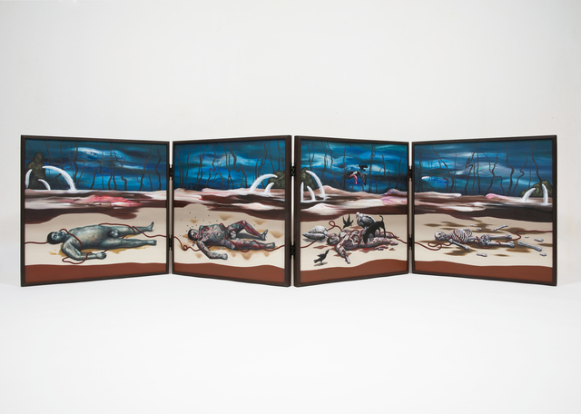 , 'Four Figure Paintings,' 2018, GALLERY SU: