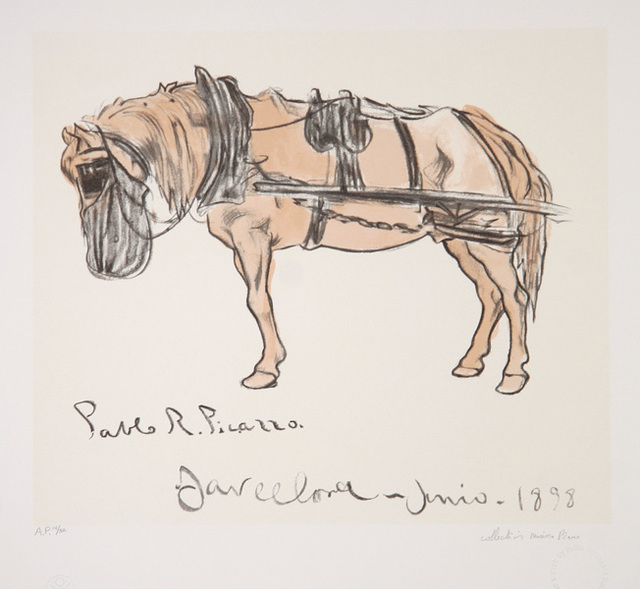 Pablo Picasso, 'Cheval Attele', 1973-original created in 1898, RoGallery