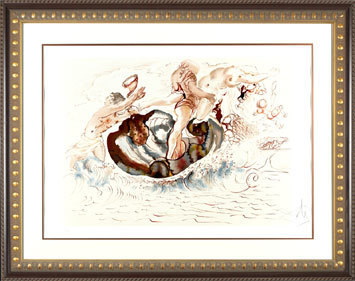 ", '""Sirens & the Sailor""  Hand Signed Salvador Dali Lithograph,' 1941-1957, Elena Bulatova Fine Art"