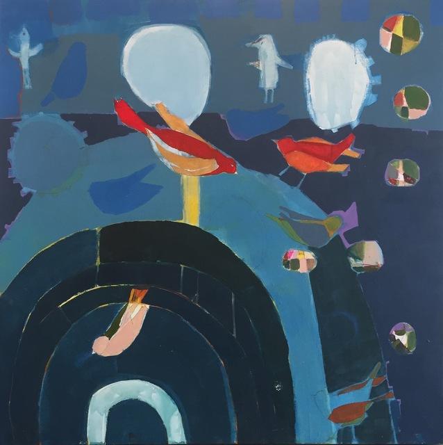 "Sara Matson Westover, '""Blue Room""', 2017, M.A. Doran Gallery"