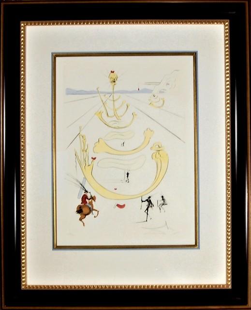 "Salvador Dalí, '""Masque de la Mort"" from the suite ""Quevedo Visioner""', 1975, Joseph Grossman Fine Art Gallery"