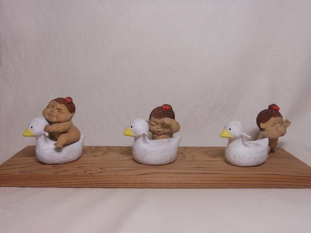 Miki NAGASAKI, 'Series <Pooping Aa-chan> (set of 3, each with a commode)', 2012, Sculpture, Camphor, Watanuki Ltd. / Toki-no-Wasuremono