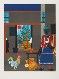 Romare Bearden, 'Morning of the Rooster,' 1980, Phillips: Evening and Day Editions (October 2016)
