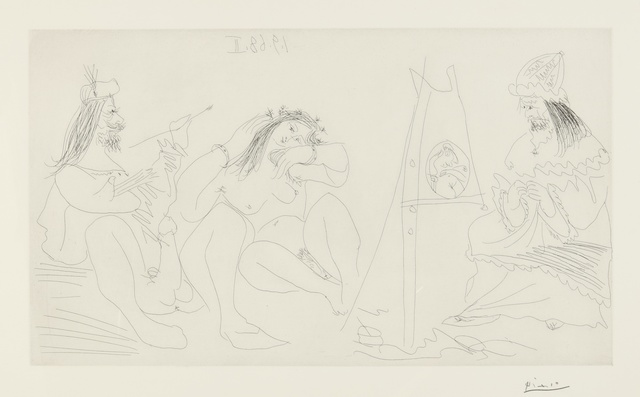 Pablo Picasso, 'Raphaël et la Fornarina. VII: Le Pape est là, assis (B. 1782; Ba. 1799)', 1968, Print, Etching, Sotheby's