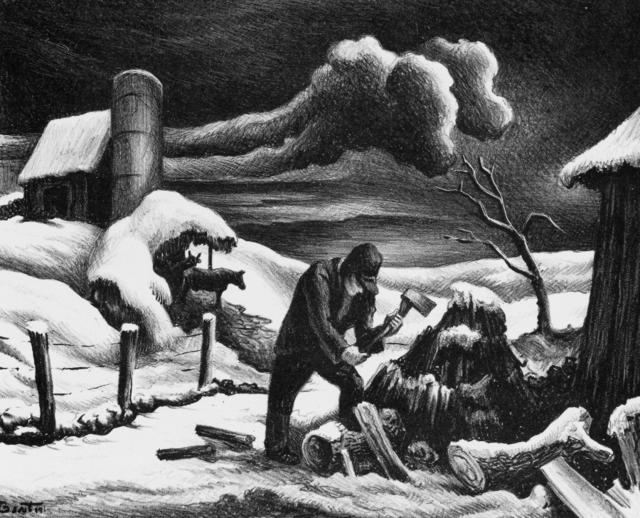 Thomas Hart Benton, 'The Woodpile', 1939, Kiechel Fine Art