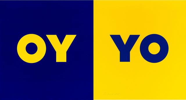 Deborah Kass, 'OY-YO (2 Panels)', 2020, Print, Color silkscreen and flocking on Rising 2-ply Museum Board, Kenneth A. Friedman & Co.