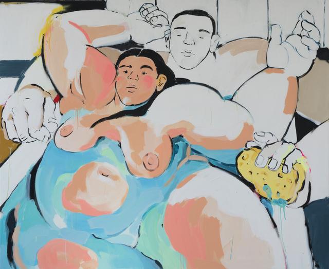 , 'Lovers in the Bath,' 2018, Kristin Hjellegjerde Gallery