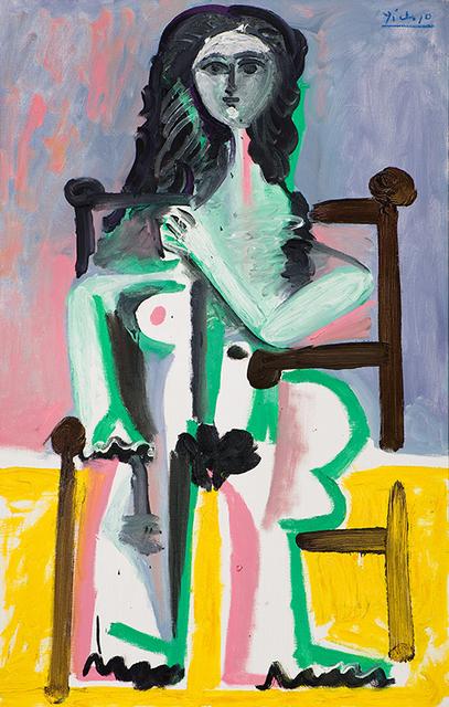 , 'Nu assis dans un fauteuil (II),' 1963, Vancouver Art Gallery