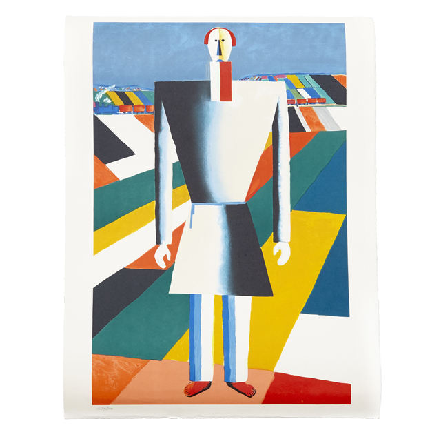 """Kasimir Severinovich Malevich, '""""Peasant in the Fields"""" Lithography', 1992, DADA STUDIOS"""