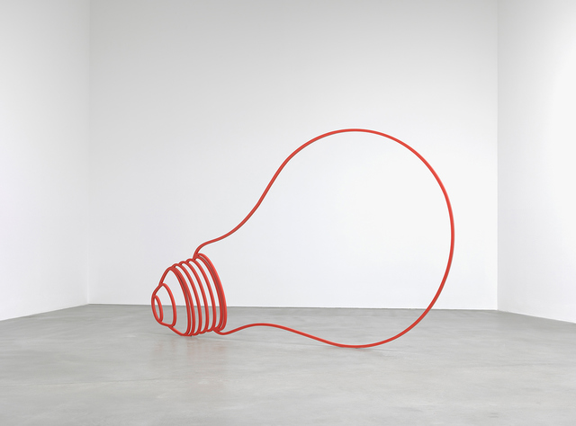 Michael Craig-Martin, 'Bulb (red)', 2011, Sculpture, Powder-coated steel, Gagosian