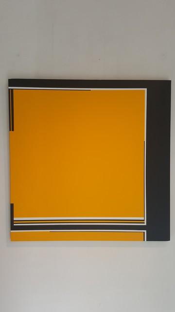 , 'Carré - jaune - noir / Art Construit,' 2017, Galerie Marie-Robin