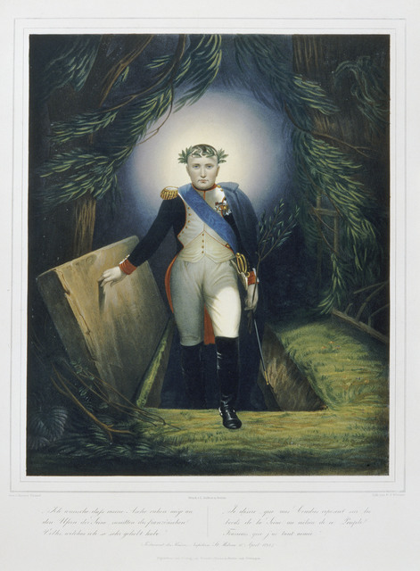, 'Napoléon sortant de son tombeau (Napoleon emerging from his tomb), after Jean Joseph Bastier de Bez,' 1860, Château de Fontainebleau