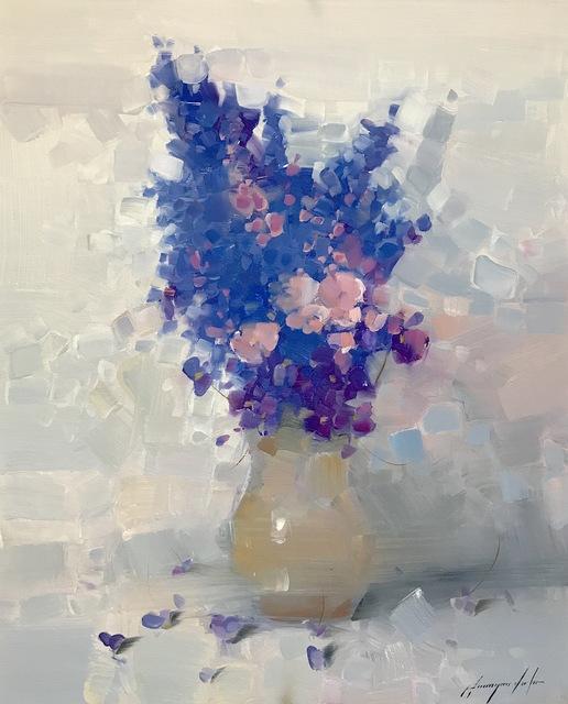 Vahe Yeremyan, 'Vase of Blue Flowers', 2018, Vayer Art