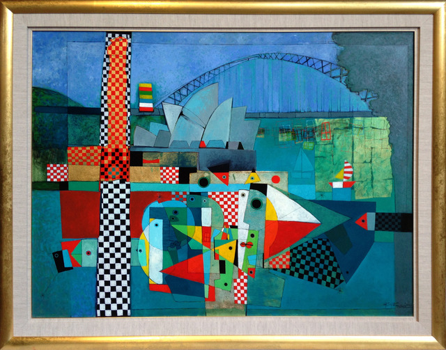 Henryk Szydlowski, 'Carnival in Sydney Harbour', 2013, Painting, Oil on Canvas, Wentworth Galleries