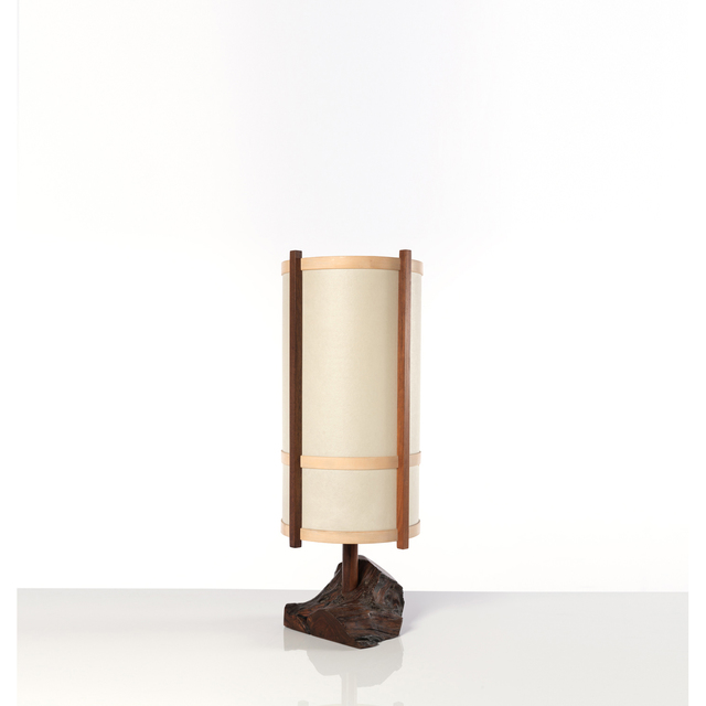 George Nakashima, 'Parquet Floor Lamp', 1974, Design/Decorative Art, Noyer américain, bois de rose, bois de cerisier et parchemin, PIASA