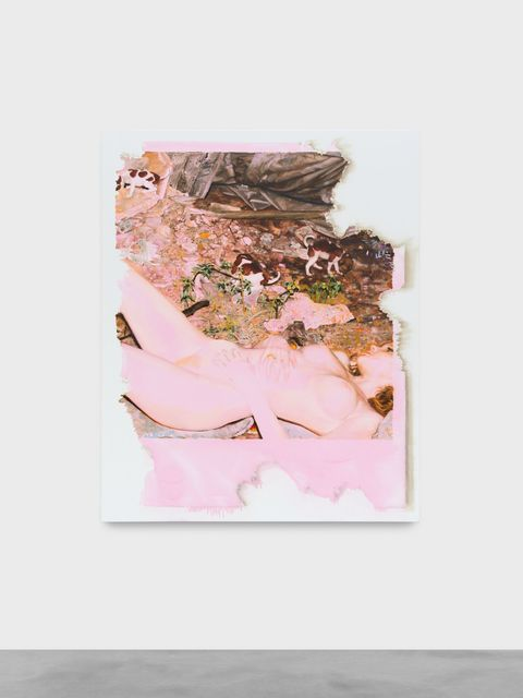 , 'Eaten by the mouse pink nude,' 2018, Almine Rech