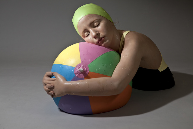 Carole A. Feuerman, 'Monumental Brooke with Beachball,' 2011, Aria Art Gallery