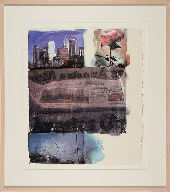 Robert Rauschenberg, 'L.A. uncovered #2', 1998, Print, Screenprint in colors (framed), Rago/Wright