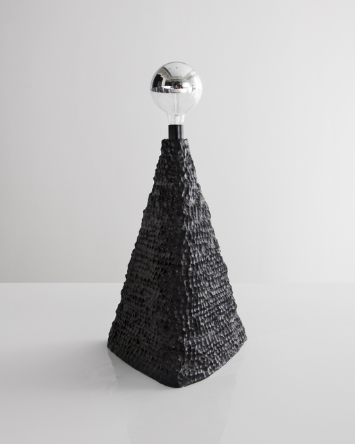 , 'Black lamp in ceramic. Designed by Katie Stout with Sean Gerstley, USA.,' , R & Company