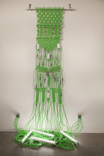 Dana Hemenway, 'Untitled (extension cords – green)', 2013, Eleanor Harwood Gallery