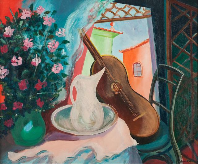 , 'Interior com Vaso de Flores e Violão,' ca. 1960, Simões de Assis Galeria de Arte