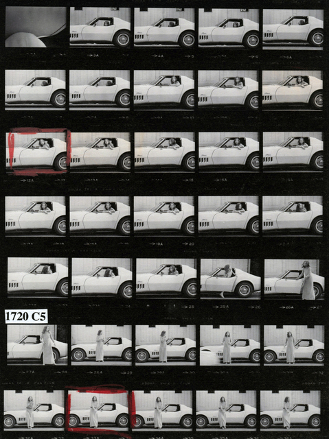 , 'Joan Didion at Home in Hollywood, Time Magazine (Contact Sheet),' 1968, Fahey/Klein Gallery