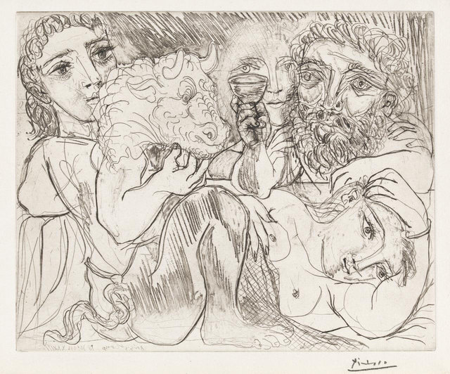 , 'Minotaur, Drunkard and Women (Minotaur, Buveur et Femmes - 4th state),' 1933, Robert Fontaine Gallery