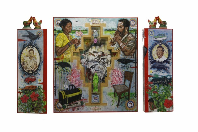 , 'Migrant Altar,' 2012, Wei-Ling Gallery